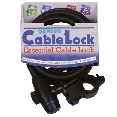 Oxford Lock Cable W/ Bracket