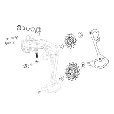 Sram Rear Derailleur Pulley Kit X9/X7/Gx 2X10 Type2 Qty 2: