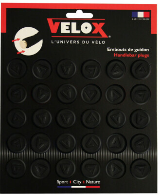 Velo Velox Rubber Push Fit Bar End Plugs