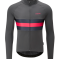 Chapeau! Tempo Ii Hoop Stripe Thermal Jersey S Carbon Grey