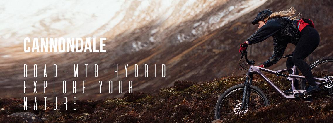 Cannondale; Road - MTB - Hybrid; Explore Your Nature
