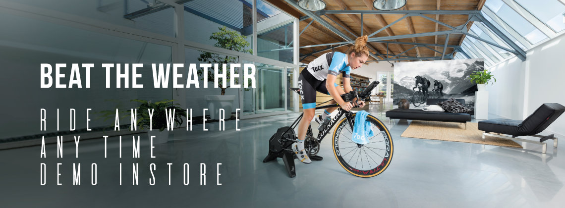 Beat the Weather - Ride Anywhere, Any Time, Demo Instore