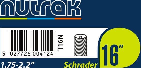 Nutrak 16 X 1.75/2.125 Schrader Valve