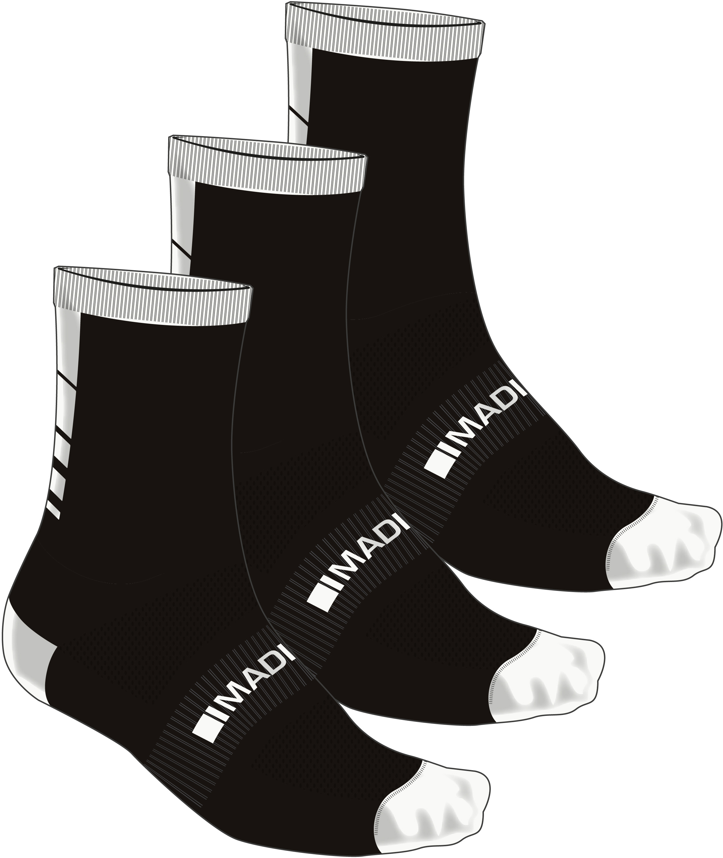 Madison Freewheel CoolMax Mid Sock Triple Pack