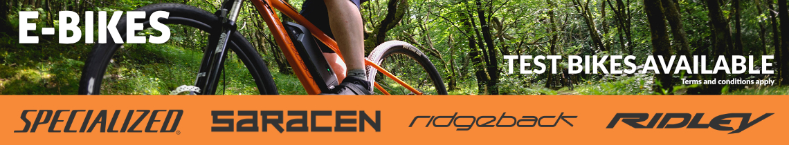 E-Bikes - Test Bikes Available - Specialized, Saracen, Ridgeback, Ridley