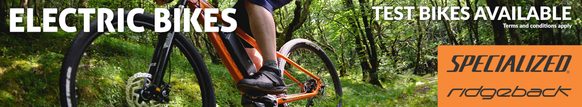 Electric Bikes - Test Bikes Available - Specialized & Ridgeback