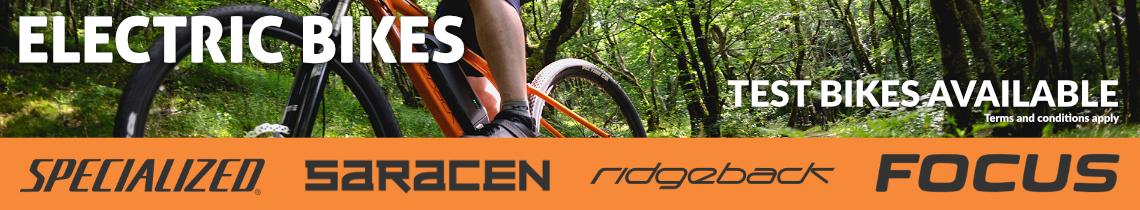 Electric Bikes - Test Bikes Available - Specialized, Saracen, Ridgeback, Focus