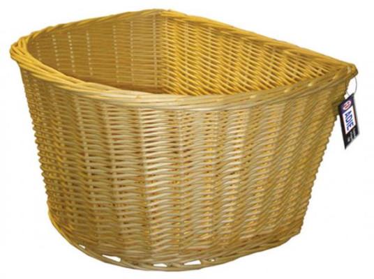 """Adie Basket    Wicker 18"""" D Shape"""