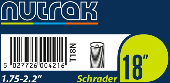 Nutrak 18 X 1.75/2.125 Schrader Valve