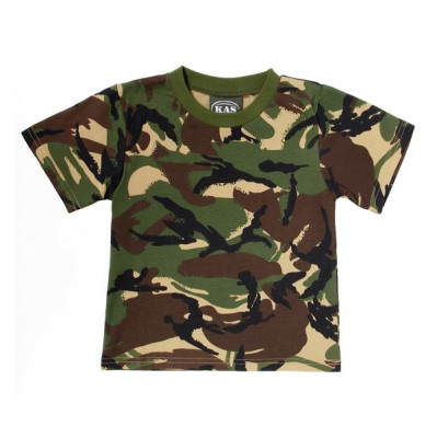 Kids Army Shop Tshirt Woodland Assault