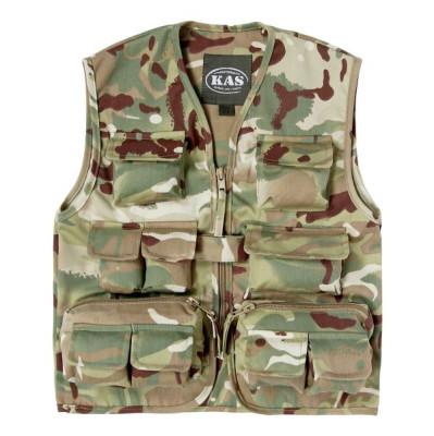 Kids Army Shop Vest Multi Action