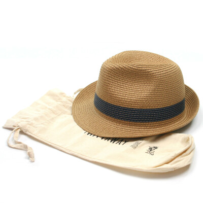 Black Ginger Hat In Bag Tribly Blue Band