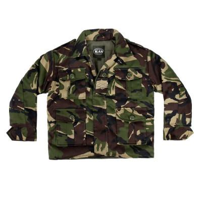 Kids Army Shop Jacket Woodland Camo