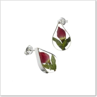 Shreiking Violet Earrings S Rosebud Teardrop