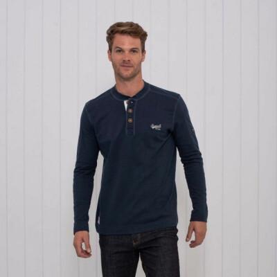 Brakeburn Tshirt Henley Long Sleeve